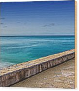 Waikiki Beach Walk Panoramic Wood Print