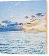 Waikiki Sunset After An Afternoon Thunderstorm Wood Print
