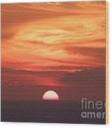 Waikiki Sunset No 3 Wood Print