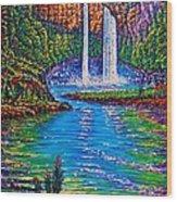 Wailua Falls II Wood Print