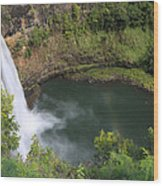 Wailua Falls Kauai Hawaii Wood Print