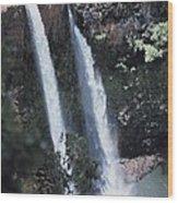 Wailua Waterfall  Wood Print