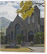 Wailuku Church Wood Print