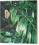Waipeo Green Wood Print