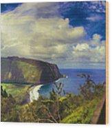 Waipo Valley Lookout-big Island Hawaii Wood Print