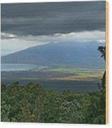 Waipoli Kula View Of West Maui From Haleakala Wood Print