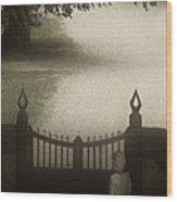 Waiting At The Gate Wood Print