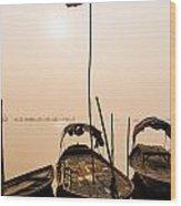 Waiting Boats Wood Print