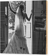 Waiting Bride Wood Print