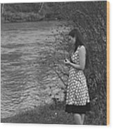 Waiting By The River Wood Print