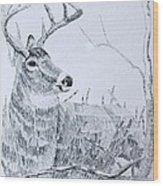 Waiting For Dusk Wood Print