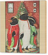 Waiting For Santa Claus Wood Print