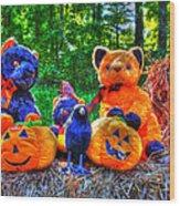 Waiting For The Great Pumpkin  Drybrush 01 Grunge Wood Print