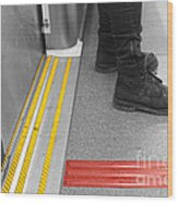 Waiting For The Next Stop Wood Print