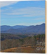 Waiting For Winter In The Blue Ridge Mountains Wood Print