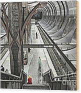 Waiting - Hollywood Subway Station. Wood Print