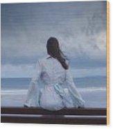 Waiting In The Wind Wood Print by Joana Kruse