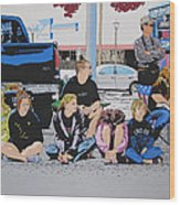 Waiting Wood Print by Lance Bifoss