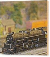 Waiting Model Train  Wood Print