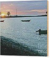 Waitukubuli Sunset Wood Print