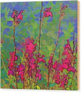 Wake Up Smell The Flowers Wood Print