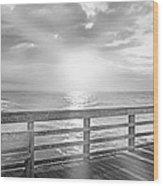 Waking Coast Wood Print by Betsy Knapp