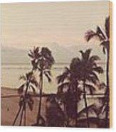 Waking Up On Waikiki Wood Print