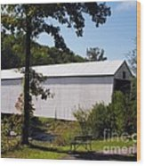 Walcott Covered Bridge 2 Wood Print