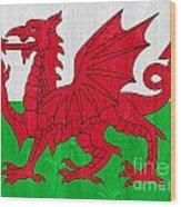 Wales Flag Wood Print