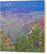 Walhala Overlook On North Rim Of Grand Canyon-arizona  Wood Print