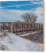 Walk Across Bridge Wood Print
