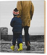 Walk Alongside Me Daddy Wood Print