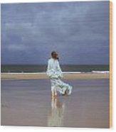 Walk At The Beach Wood Print by Joana Kruse