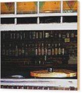 Walk By Bar Service Wood Print