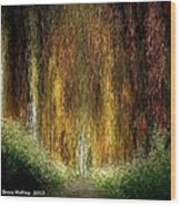 Walk In The Forest Wood Print