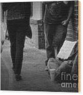 Walk On By Wood Print
