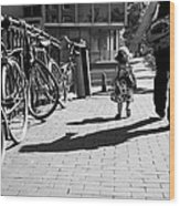 Walk Safely Little Girl  Wood Print