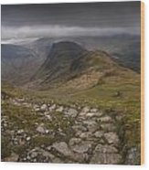 Walk To Hay Stacks Lake District Wood Print