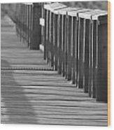 Walk To The Dock Wood Print