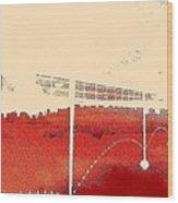 Walk-upside Wood Print by Dorothy Rafferty