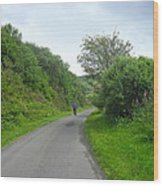 Walking A Lonely Road Wood Print