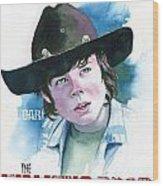 Walking Dead Carl Wood Print