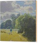 walking down by Borth River Wood Print
