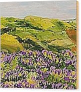 Walking Hills Wood Print