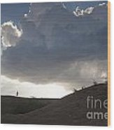 Walking In The Cloud Wood Print