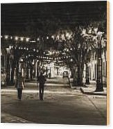 Walking In The Stockyards Wood Print