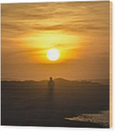 Walking In The Sunrise Wood Print