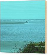 Walking In The Water At Isle Of Palms Wood Print
