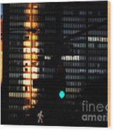 Walking Man - Architecture Of New York City Wood Print