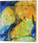 Walking On Sunshine - Abstract Painting By Sharon Cummings Wood Print